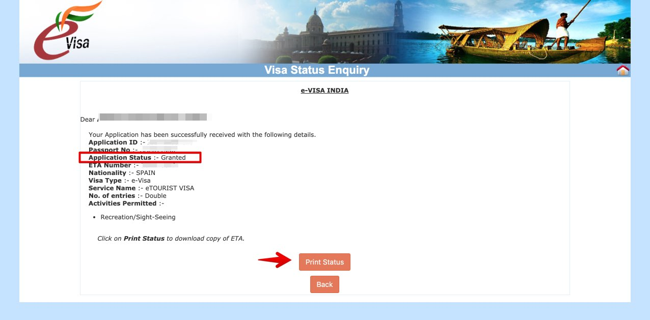Get e-Visa to India - Step 33