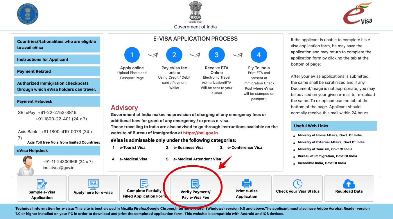 Apply for e-Visa to India - Step 21