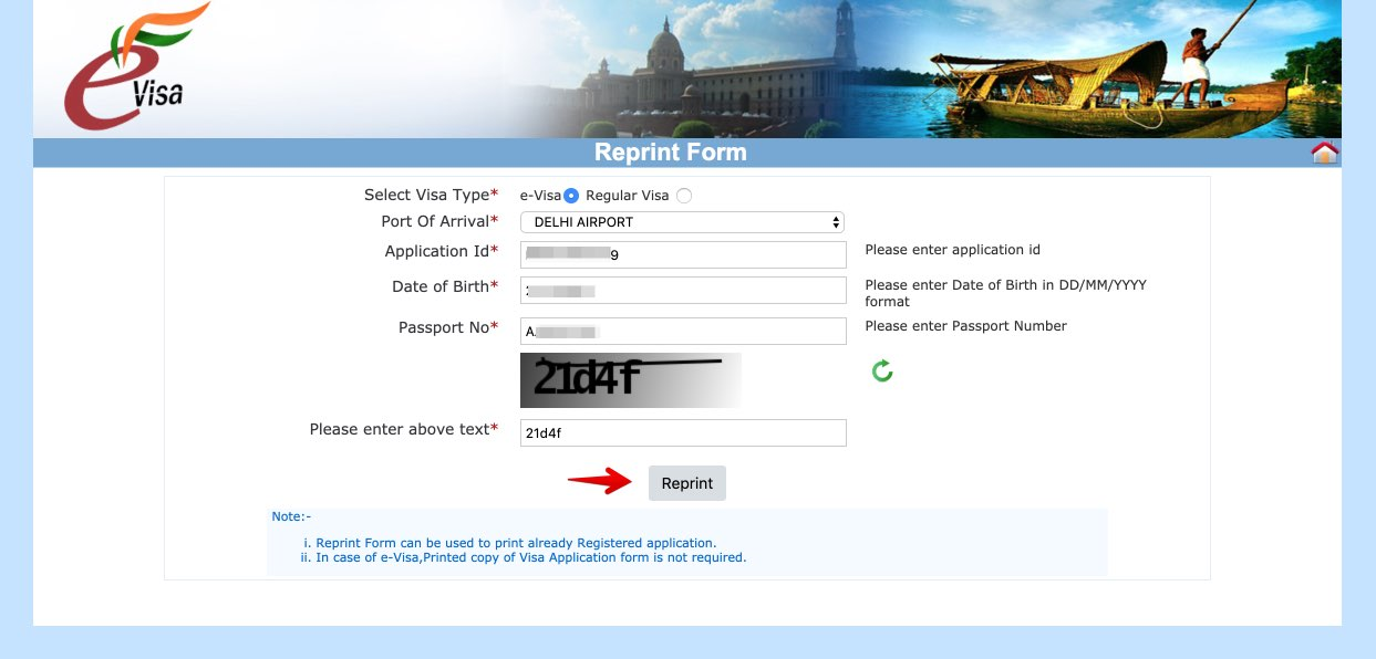 Apply for e-Visa to India - Step 24