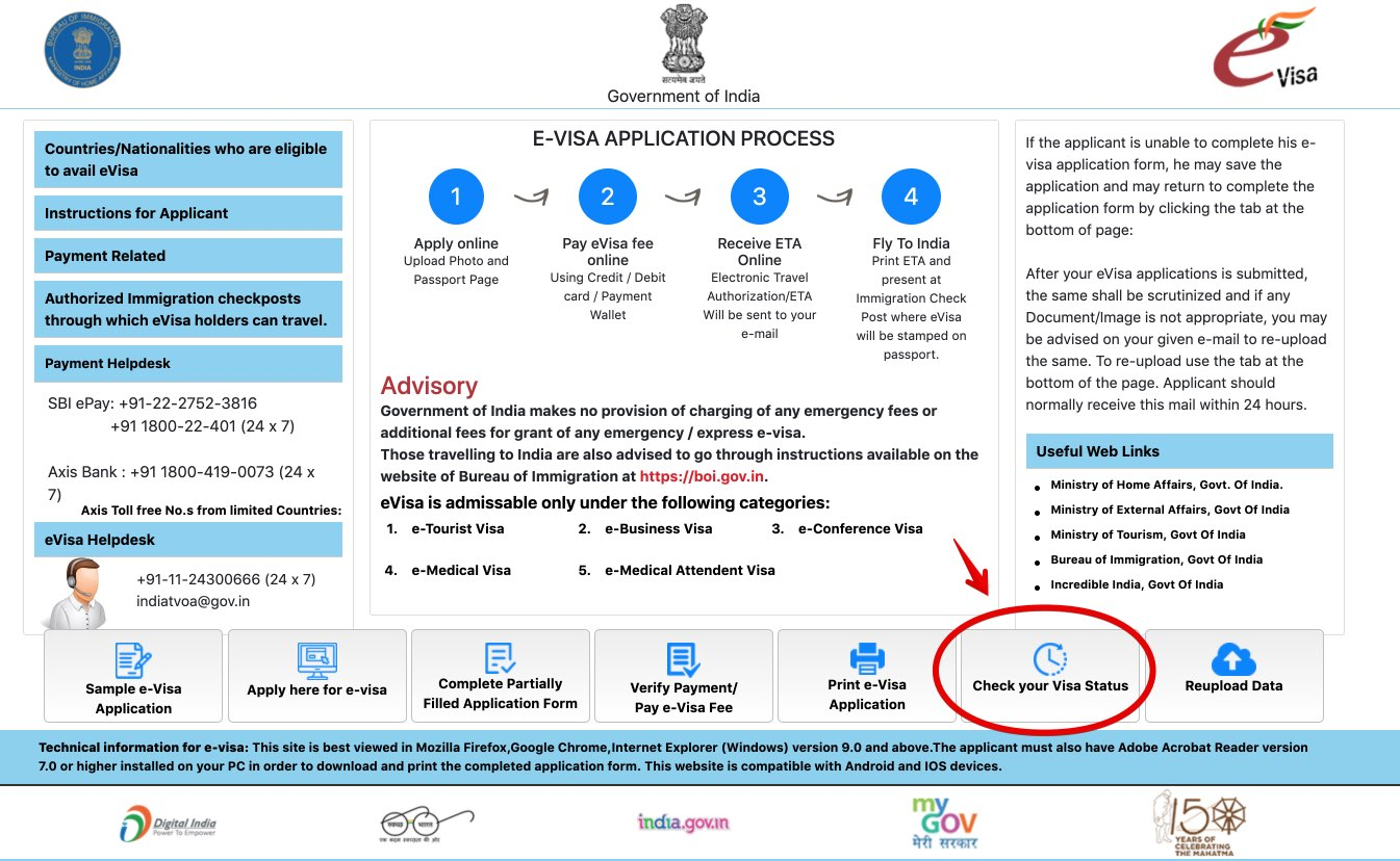 Apply for e-Visa to India - Step 27