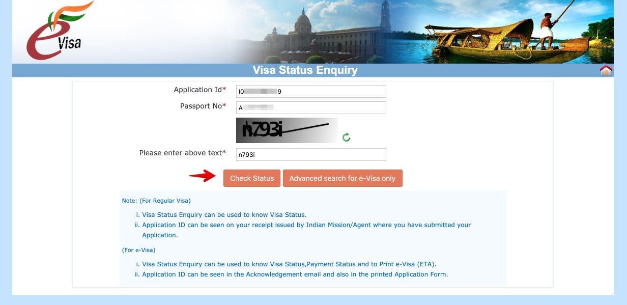 Apply for e-Visa to India - Step 28