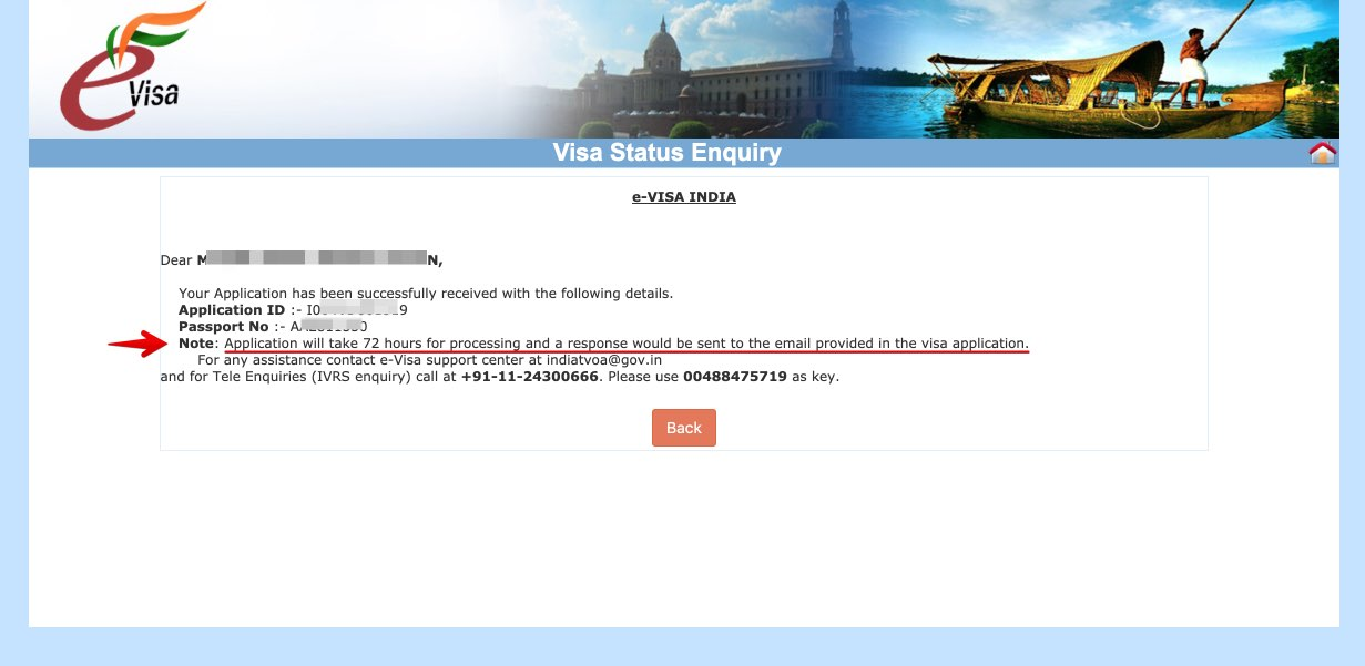 Apply for e-Visa to India - Step 29