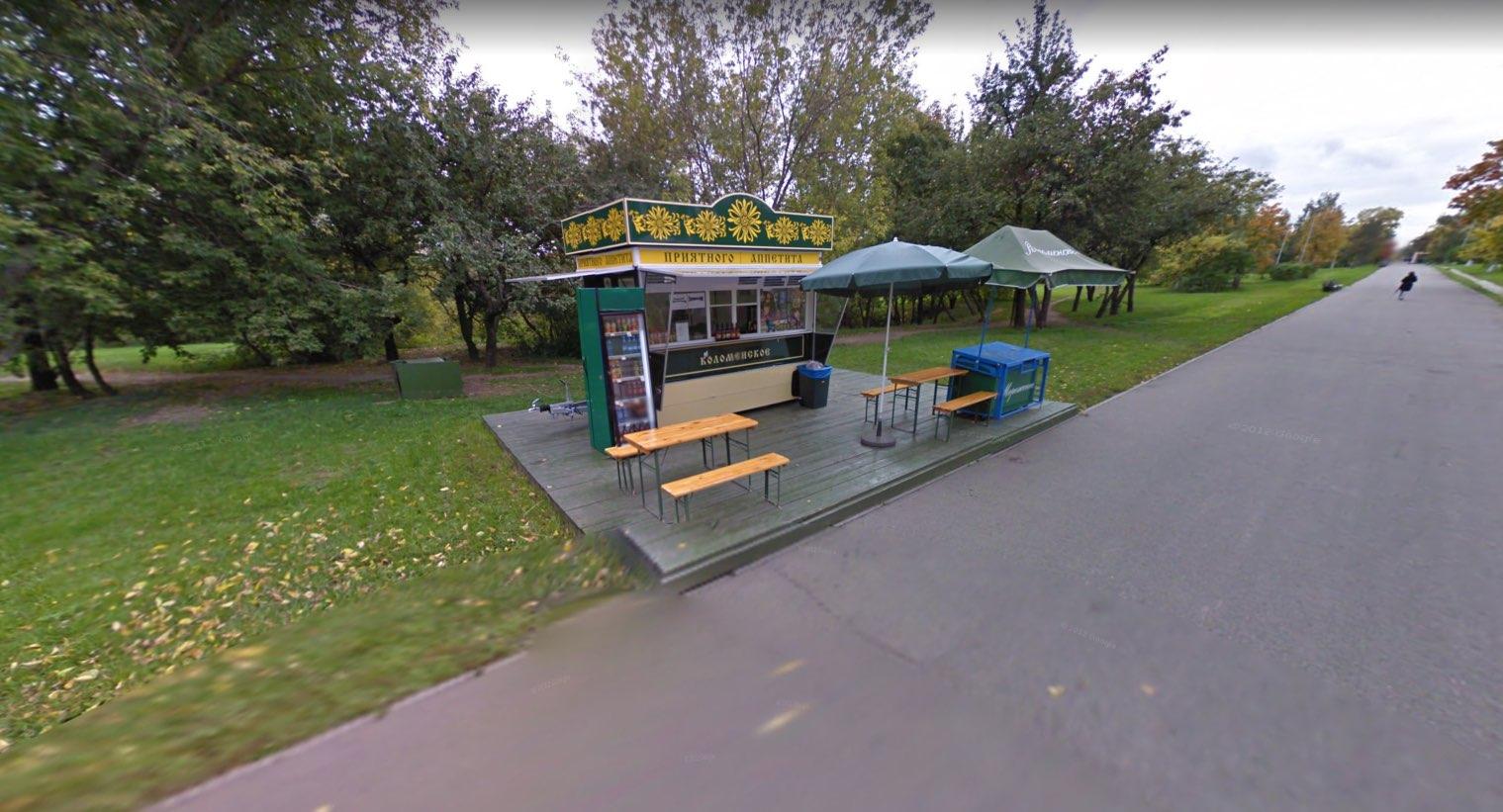 Stand gastronomico a Kolomenskoye