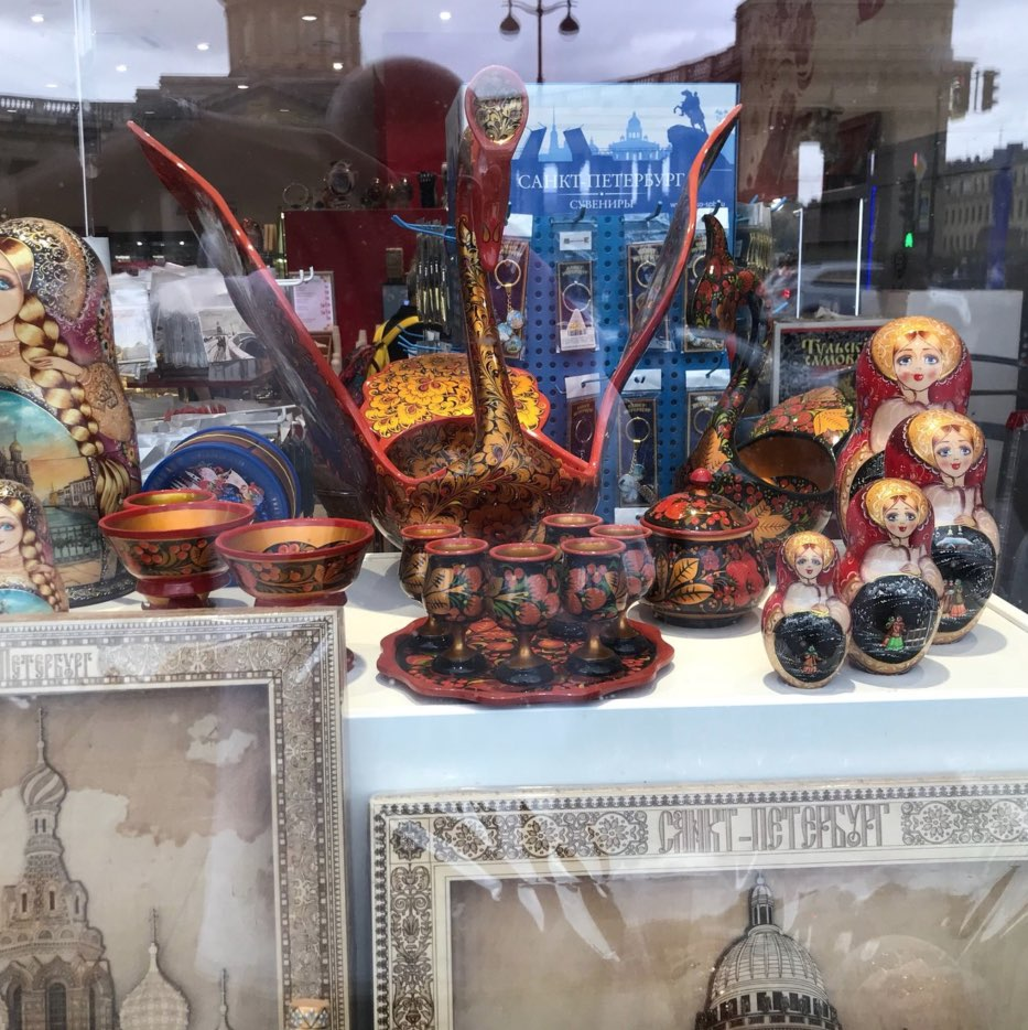 Souvenirs on St. Petersburg Nevsky Prospect