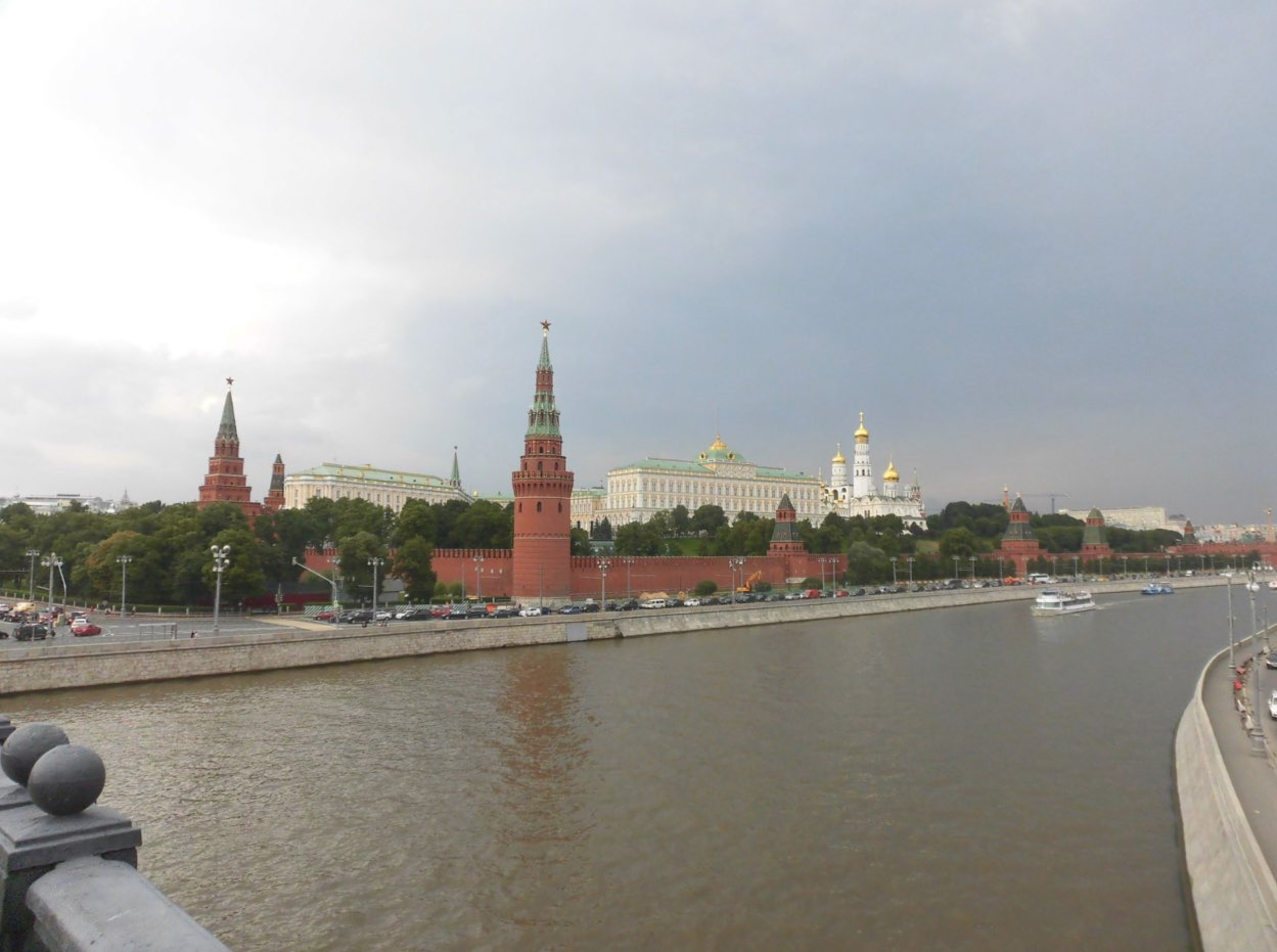 Walking on the Bolshoi Kamenny Bridge