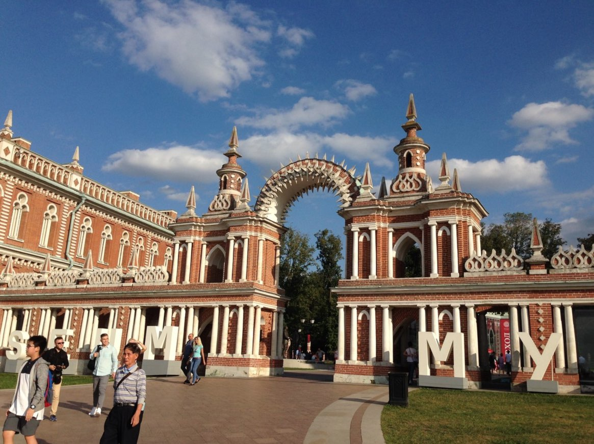 Grand Palace and House of Bread Connection in Tsaritsyno