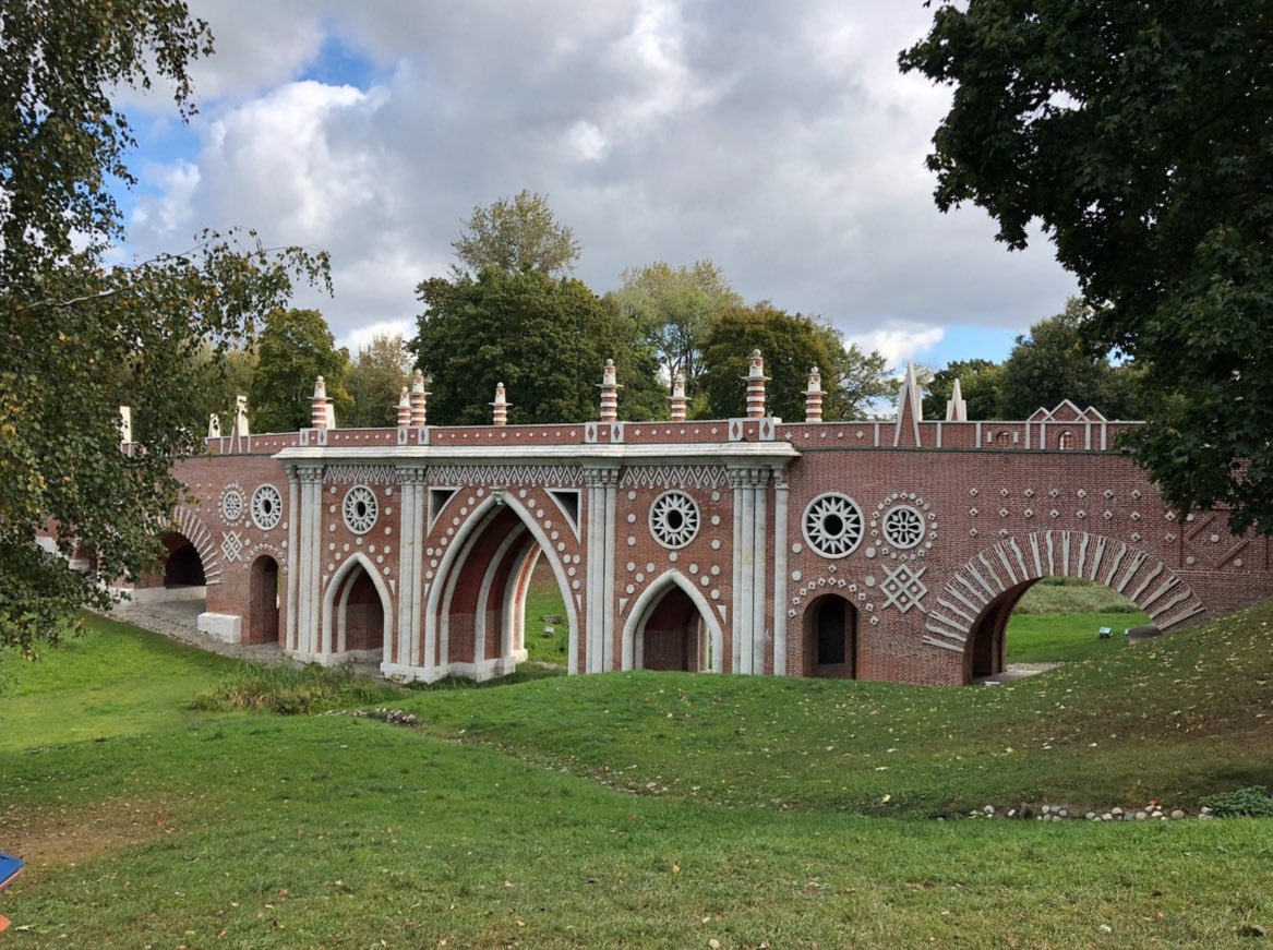 Great Bridge over the ravine in Tsaritsyno