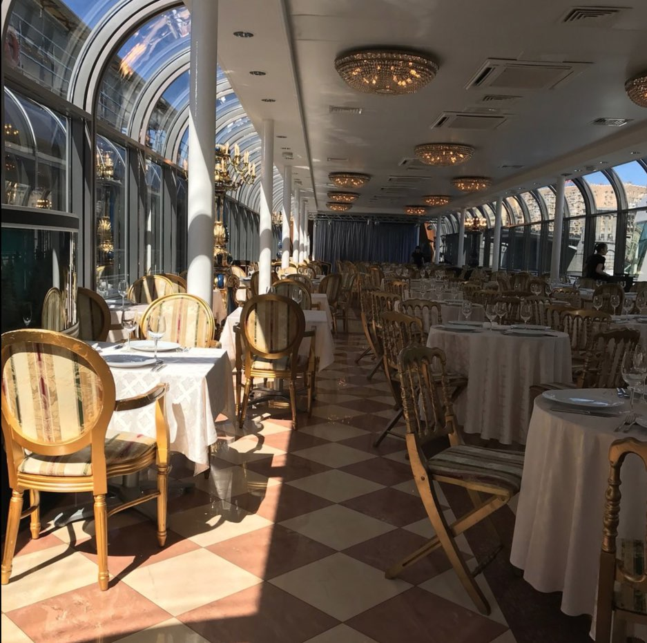 Interior river palace cruise in Moscow