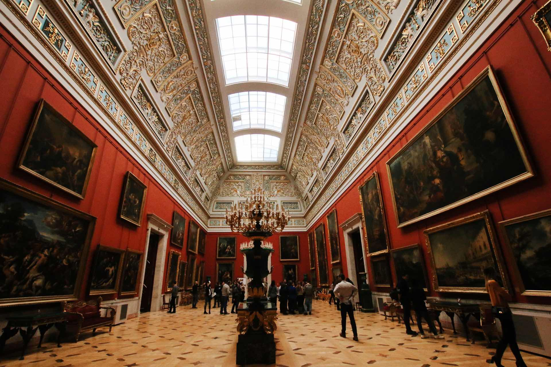 Interno del Museo dell'Ermitage di San Pietroburgo