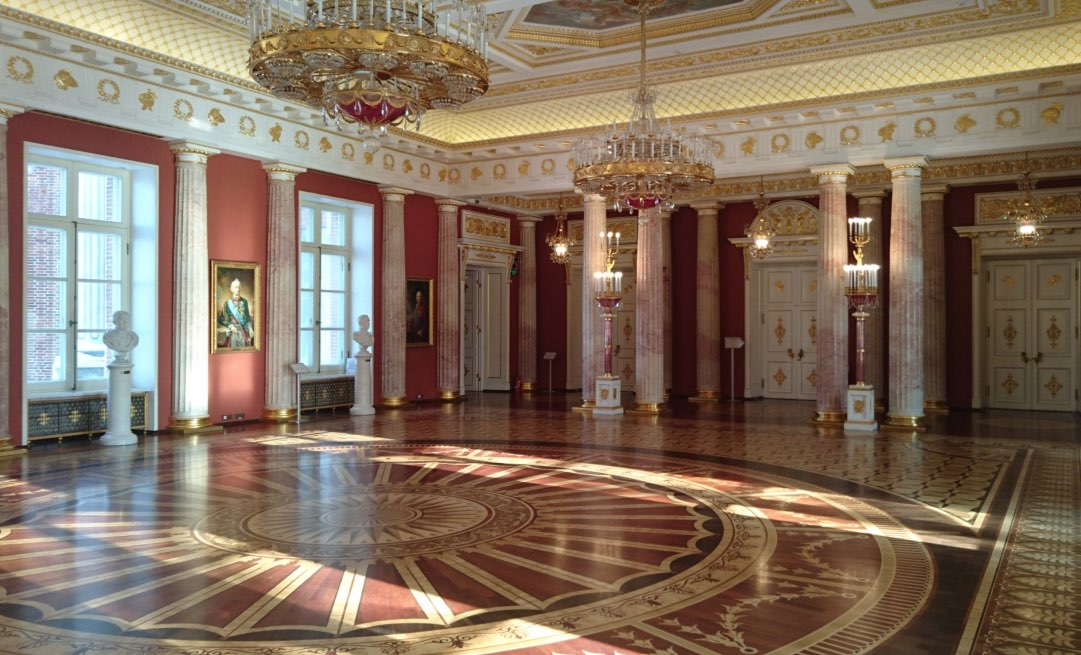 Interior of the great palace of Tsarytsino