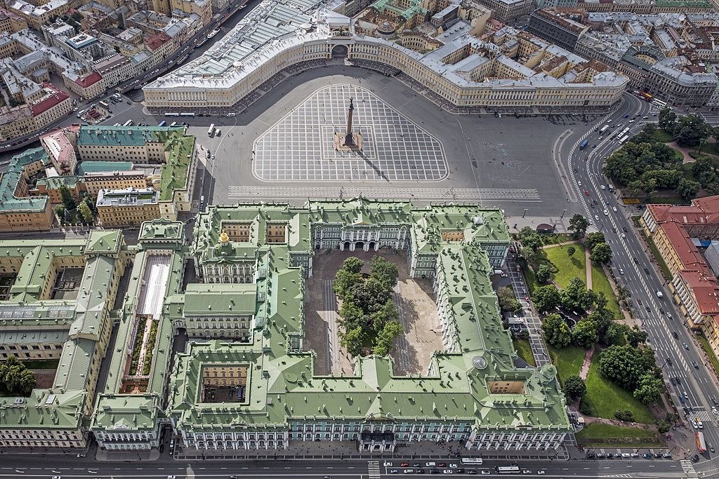 Saint Petersburg Palace Square - Aerial View