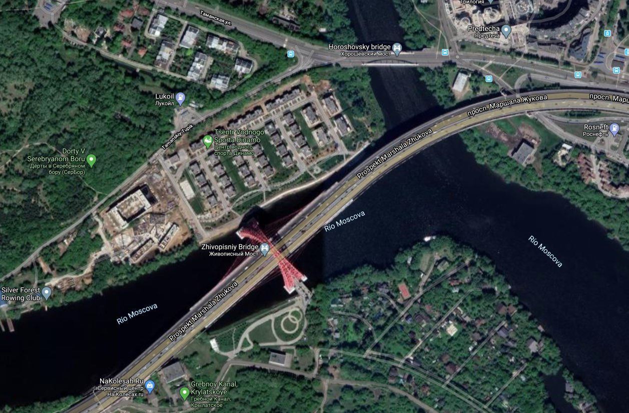 Zhivopisny bridge - Google maps
