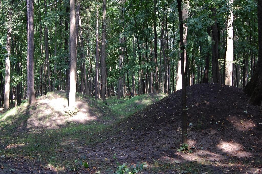 Burial mounds in Tsaritsyno