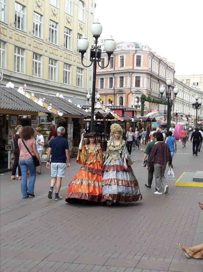 Costumi in via Arbat a Mosca