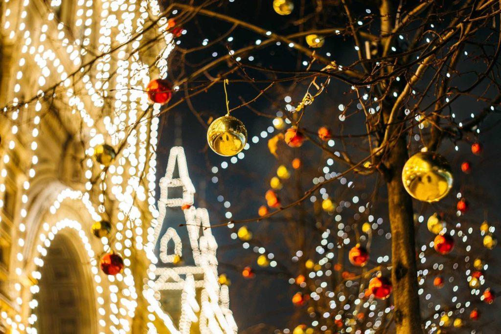 Galería Gum en Navidad en Moscú