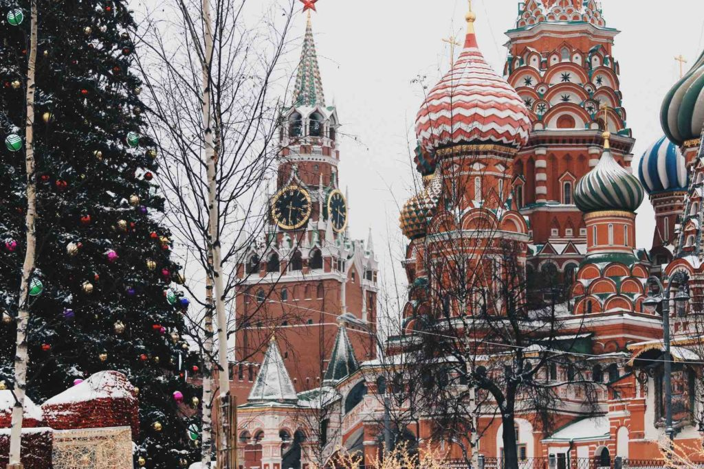 Moscow Red Square at Christmas