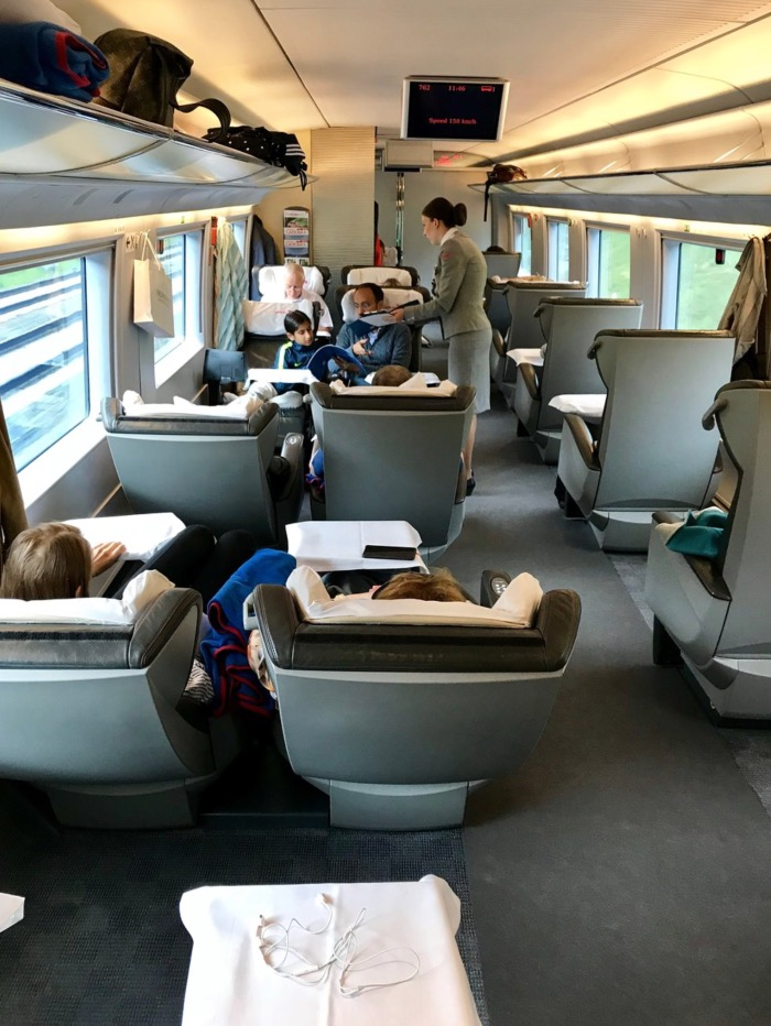 First class on the Sapsan train