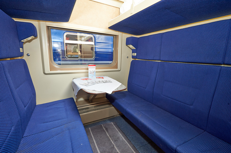 Artika train - Second class compartment