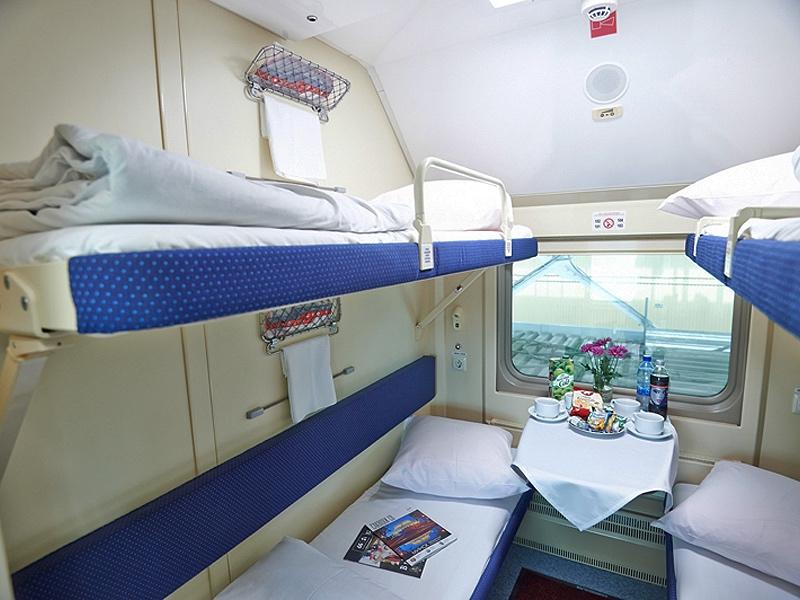 Train à impériale Moscou Saint-Pétersbourg - Compartiment de deuxième classe