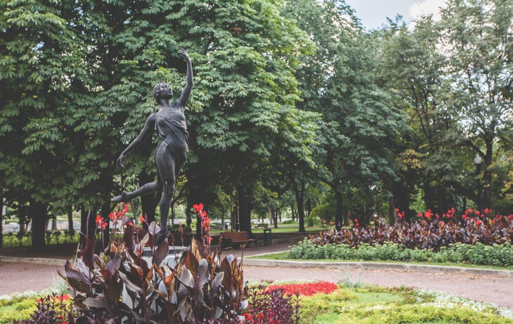Sculpture of the dancer in the Gorky Park