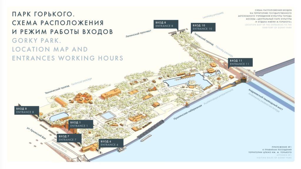 Gorky park map - Parterre